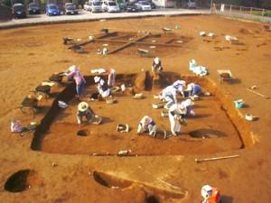 堀込遺跡:古墳時代の住居跡の調査