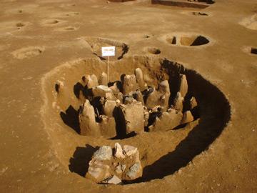 土器の出土した土壙(縄文時代)