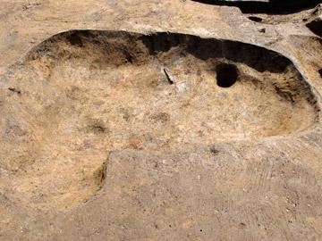 八條遺跡:墓と考えられる第18号土壙(中世)