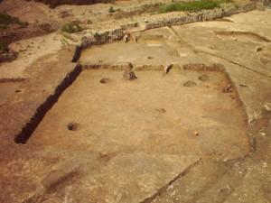 城敷遺跡:竪穴住居跡