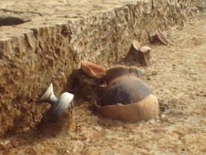 城敷遺跡:住居跡から出土した土器
