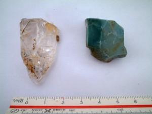 反町遺跡:発見された水晶と碧玉