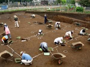 諏訪北2遺跡:掘立柱建物跡