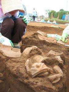諏訪野遺跡:土器が出た!