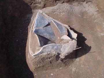貯蔵穴の土器