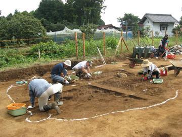 高麗石器時代住居跡遺跡:竪穴住居住居跡の調査