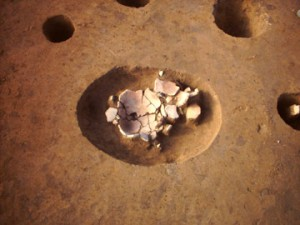 神ノ木2遺跡:第4号住の炉跡