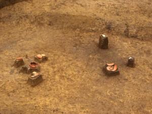 三竹遺跡:まとまって出土した土器