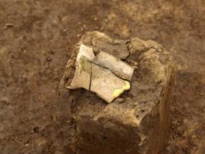 三竹遺跡:須恵器のの破片(ハソウ)