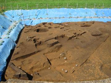 長竹遺跡:北側の盛土