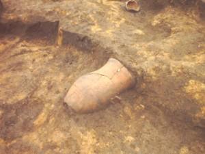 杉の木遺跡:粗い縄目文様をもつ弥生土器