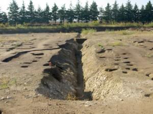 皂樹原・檜下遺跡:「阿保境館跡」につながる溝跡