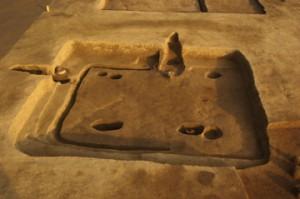 皿沼西遺跡:奈良時代の竪穴住居跡(拡張された住居跡)