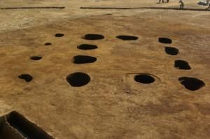 皿沼西遺跡:平安時代の掘立柱建物跡