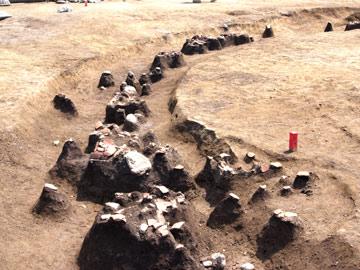 塚原古墳群:土器が出た!