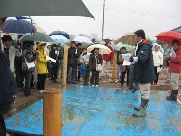 富田後遺跡:六角形の掘立柱建物跡