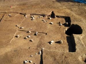 天神台東遺跡:奈良時代の大形住居跡(1辺5m)