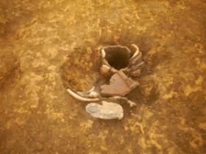 牛原遺跡:縄文中期前半住居跡炉