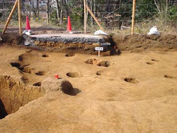 雅楽谷遺跡:縄文時代後期の住居跡
